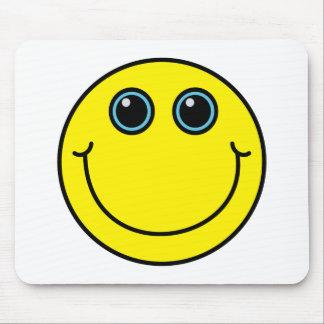 Visage souriant jaune tapis de souris