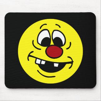 Visage souriant maladroit Grumpey Tapis De Souris