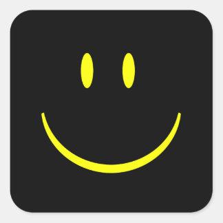 Visage souriant sticker carré