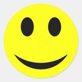 visage souriant sticker rond