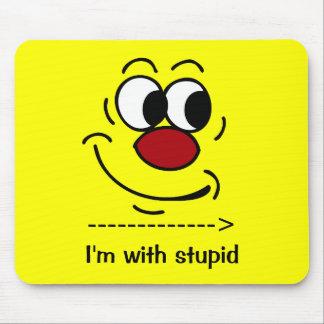 Visage souriant stupide Grumpey Tapis De Souris