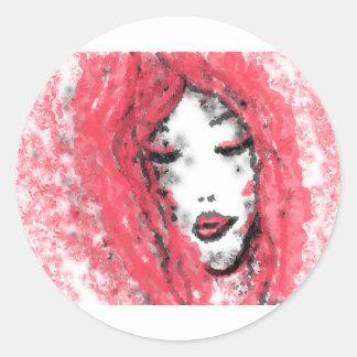 Visage Sticker Rond