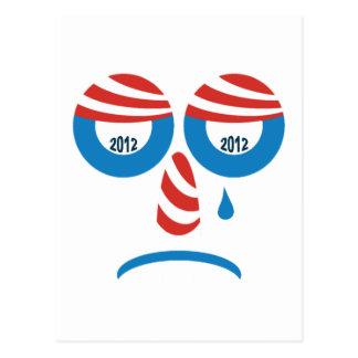 Visage triste d'Obama 2012 Carte Postale