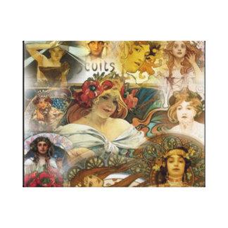 Visages Alphonse Mucha, toile enveloppée