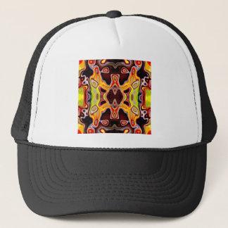 Visages dans les formes 5 de résumé casquette