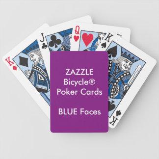 VISAGES de BLEU faits sur commande de cartes de Jeu De Cartes