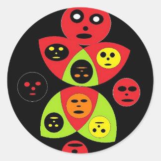visages de la mort adhésifs ronds