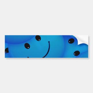 Visages souriants bleus heureux frais d'amusement autocollant de voiture