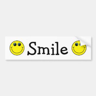 Visages souriants jaunes autocollant de voiture