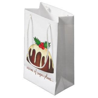 Visions de sac de cadeau de pudding de prune de