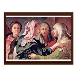 Visite par Pontormo Jacopo Carte Postale