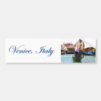 Visite touristique en la gondole Venise Italie Autocollant De Voiture