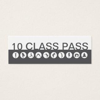 Visitekaartje 10 van de yoga de Pas van de Klasse Mini Visitekaartjes