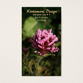 Visitekaartje - wildflower visitekaartjes