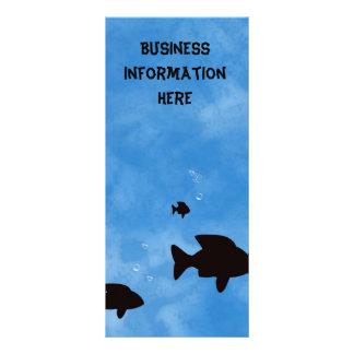 Vissen in het Diepe Blauwe Bladwijzer van de Reclamekaart