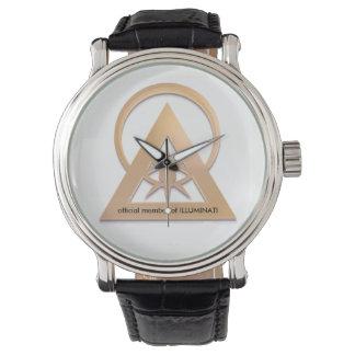 vitesse officielle d'illuminati montres bracelet