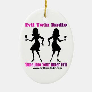 Vitesse par radio jumelle mauvaise de fan ornement ovale en céramique