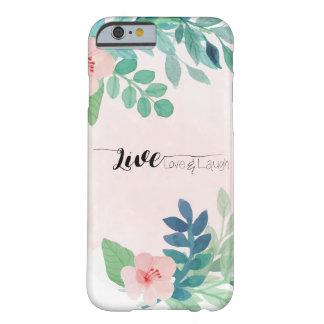 Vivant, amour, conception florale d'aquarelle de coque barely there iPhone 6