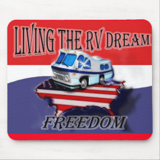 Vivant le tapis de souris rêveur de liberté de rv