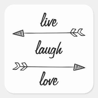 Vivant, rire, autocollant d'amour