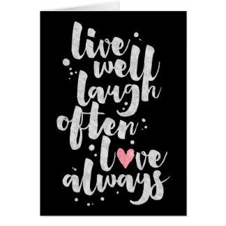Vivent l'amour de rire - carte de voeux inspirée