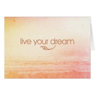 Vivent votre rêve carte de correspondance