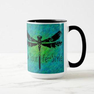 Vivent votre tasse de café de mouvement de style