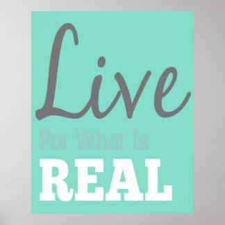Vivez pour ce qui est vraie affiche de typographie