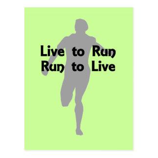 Vivez pour courir, courir pour vivre cartes postales
