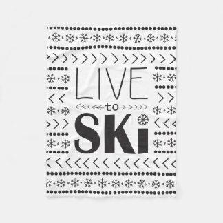 Vivez pour skier la couverture - white1