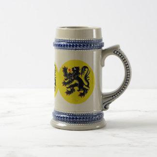 Vlaamse Leeuw van Vlaanderen bierkroes Bierpul
