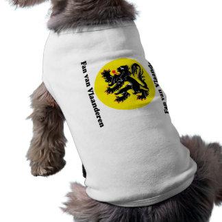 Vlaamse Leeuw van Vlaanderen huisdieren kleding Mouwloos Hondenshirt