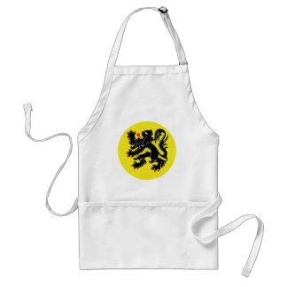 Vlaamse Leeuw van Vlaanderen keukenschort Standaard Schort