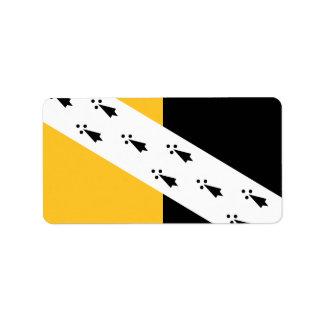Vlag de Etiketten van van Norfolk van de