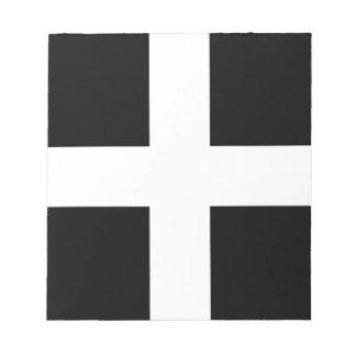 Vlag van Cornwall - van Heilige Piran Vlag, Baner Notitieblok