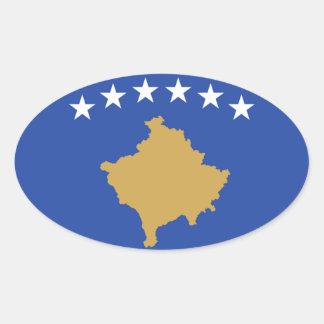 Vlag van de Ovale Sticker van Kosovo
