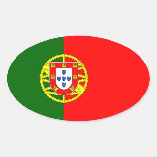 Vlag van de Ovale Sticker van Portugal