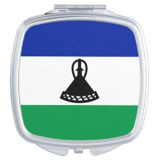 Vlag van de Vierkante Compacte Spiegel van Lesotho Makeup Spiegeltjes