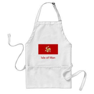 Vlag van het Eiland Man Standaard Schort