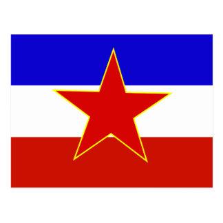 Vlag van Joegoslavië Briefkaart