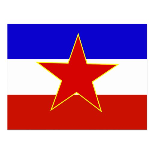 Vlag van Joegoslavië Wenskaart