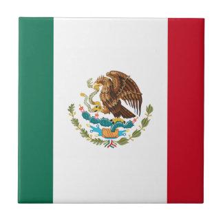 Vlag van Mexico - Mexicaanse Vlag - Bandera DE Keramisch Tegeltje