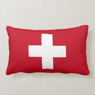 Vlag van Zwitserland Lumbar Kussen