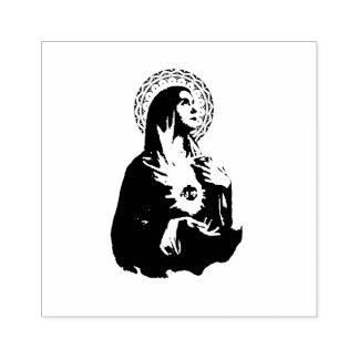 Vlekkeloos Hart van Mary Sorrowful Mother Rubberstempel