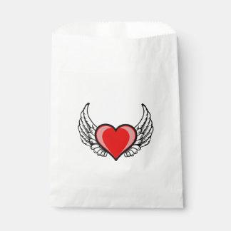 vliegend hart van liefde zakje 0
