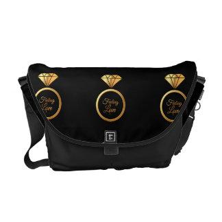 Voelend Liefde - Luxueuze gouden Diamont Ring Courier Bag
