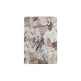 Vogels & het paspoorthouder van de Collage van het Paspoort Houder