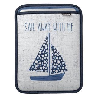 Voile nautique de la citation | loin avec moi housse iPad