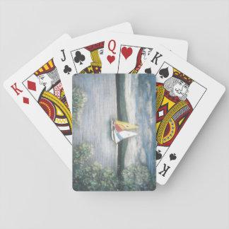Voiliers sur des cartes de jeu jeu de cartes