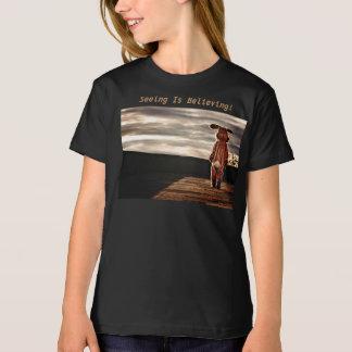 Voir croit ! T-shirt organique de filles